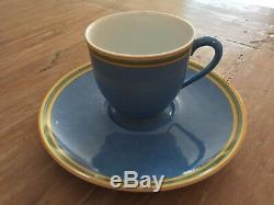 Hermes'Toucans' espresso cups & saucers x 2