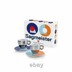 ILLY ART COLLECTION 2 Cappuccino Cups Stefan Sagmeister Limited Edition 23384