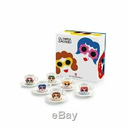 ILLY ART COLLECTION 6 Espresso Cups Olimpia Zagnoli Numbered and Signed