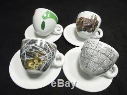 Illy 2015 Sustainart Cappuccino Cups/saucer Set Of 4 Official Coffee Partner