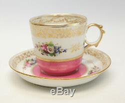 Imperial Royal Vienna Porcelain Cup & Saucer with Realistic Cricket Insect, 1858
