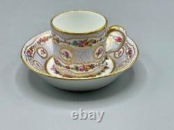Important Rare Museum Empire Sevres Cup and saucer 1770 François Drand
