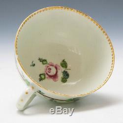 James Giles Decorated Worcester Porcelain Teacup and Saucer c1770