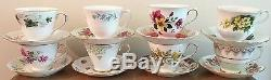Job Lot Of 100 Pretty Mismatching Vintage Tea Cups & Mix and Match Saucers