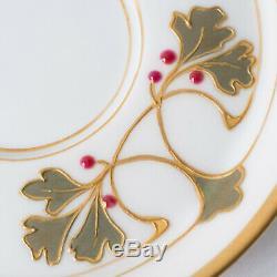 KPM Berlin Porcelain Art Nouveau jewelled Cup & Saucer Porzellan Tasse Untertass