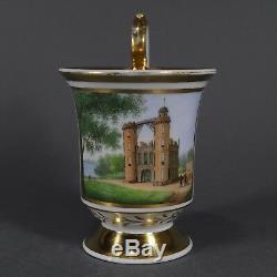 KPM Berlin Potsdam Tasse Prunktasse Ansichtentasse UT cup saucer porcelain