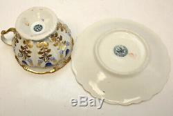 KPM Manufaktur Koenigliche Porzellan Hand Painted Porcelain Cup & Saucer, 1848