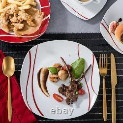 MALACASA Felisa 60-Piece Dinnerware Set Porcelain Dinner Set Service for 12