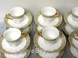 Magnificent Rare set of 12 Meissen Porcelain Cups & Saucers Signed/Marked