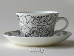 Makoto Kagoshima GUSTAVSBERG April coffee cup & saucer Black White NEW