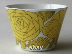 Makoto Kagoshima GUSTAVSBERG April coffee cup & saucer Yellow NEW