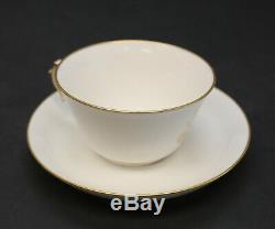 Manufacture De Sevres Gilt Porcelain Cup and Saucer, Napoleon III, 1865