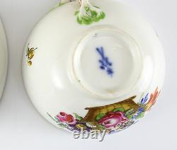 Meissen (Marcolini) Porcelain Cup & Saucer, c1800 Hand Painted