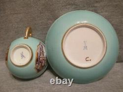 Meissen Porcelain Kauffahrtei Tea Cup & Saucer. 1730 (No 3)