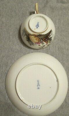 Meissen Porcelain, Marcolini Cup & Saucer, Circa 1774
