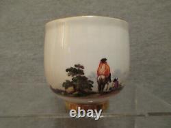 Meissen Porcelain, Porcelaine, Porzellan Scenic Cup & Saucer. 1700's