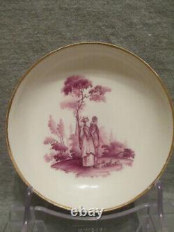 Meissen Porcelain, Tea Cup & Saucer. Christian Friedrich Herold 18th C