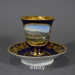 Meissen Tasse Prunktasse Chemnitz Ansichtentasse cup saucer porcelain