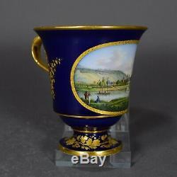 Meissen Tasse Prunktasse Pillnitz Ansichtentasse cup saucer porcelain
