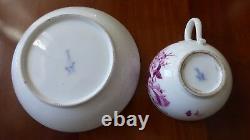 Meissen. Tasse sous-tasse. Porcelaine XVIIIème. Cup § saucer. Porzellan Tasse. B