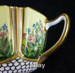 N824 C1880 Fine Antique Spode Copeland Porcelain Tea Cup & Saucer