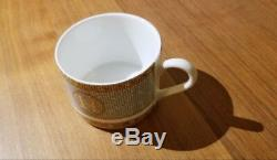 NEW Hermes Inspired Porcelain Coffee Tea Cup and Saucer FREE SHIPPING