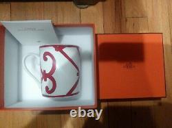 New HERMES Mug Cup Balcon du Guadalquivir Red No1 300ml Single
