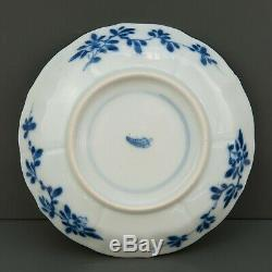 Nice pair of Chinese B&W porcelain cups & saucer, Kangxi style, 19th ct