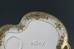 Noritake 175 / 16035 Christmas Ball Porcelain 4 Tea Cups & Snack Plates Saucers