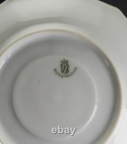 Nymphenburg Porcelain Pearl Symphony Mint Green Platinum Silver Cup & Saucer