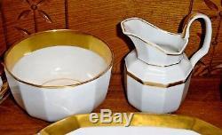 Partial Antique Old Paris Porcelain Luncheon Set Plates Cup Saucer Bowl Tray