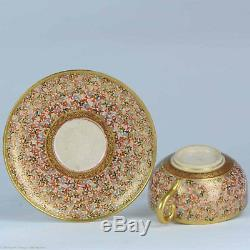 Perfect Antique 19c Satsuma Cup Saucer Fabulous quality Japanese Porcelain Ja