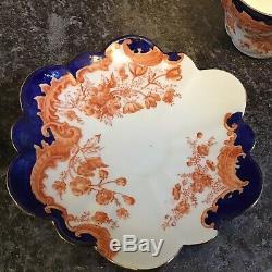 Pre SHELLEY WILEMAN porcelain Imari 7612 pattern DAISY shape CUP SAUCER TRIO