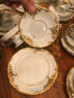 RARE! 10 prs. Porcelain Gold Plated set KPM bavaria & Wawel Tee, Coffee Full Set