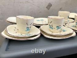RARE 1950s-BESWICK Porcelain-CIRCUS PATTERN Cup, Saucer, Plate 19 Pieces