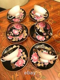 RARE Vintage 6 Cups 6 Saucers RW Rudolf Wacther Bavaria Porcelain Coffee