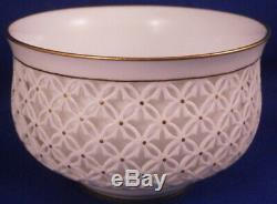 Rare Antique 19thC Sevres Porcelain Reticulated Cup & Saucer Porzellan Tasse