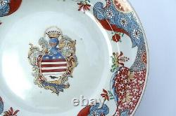 Rare Chinese French Dutch Armorial Porcelain CHARGER plate FAMILLE VERTE vase