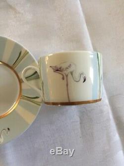Rare Hermes Porcelain Tea Cup & Saucer Les Matins De LEtang