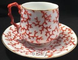 Rare KPM Porcelain Coral Pattern Cup & Saucer Mid 19th Century