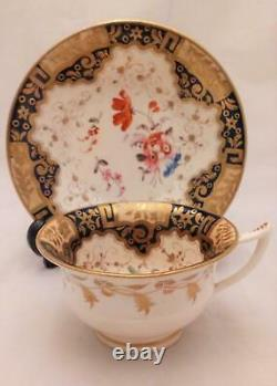 Regency Porcelain Etruscan Shaped Cup Saucer Pattern 812 attributed Yates c 1820