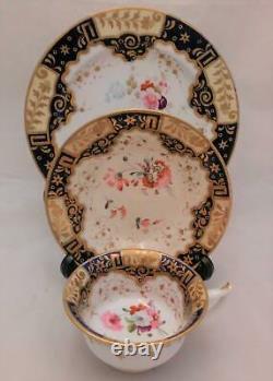 Regency Porcelain Etruscan Shaped Cup Saucer Plate Patt 812 Yates c 1820 no2