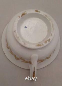 Regency Porcelain Etruscan Shaped Cup Saucer Plate Pattern 812 Yates c 1820 no 1