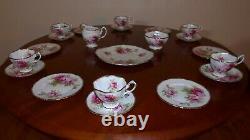 Royal Albert American Beauty Tea Set For 6 Cups Saucers Milk Jug Sugar Plates