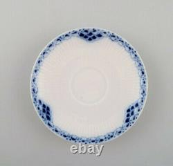 Royal Copenhagen blue painted coffee cup with saucer in porcelain. Set of 6