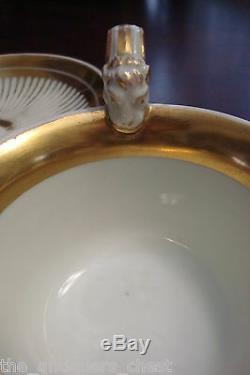 Royal Vienna VOLKSTED Porcelain cup /saucer, Austria -c1820s, lions's head & paws