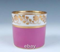 Royal Vienna c. 1835 Pink & Gold Cup & Saucer Wien Porcelain Imperial Antique
