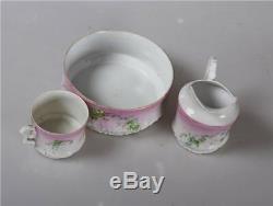 Russian Porcelain Kusnezow Old Kuznetsov Zar Cup Saucer Sugar Bowl