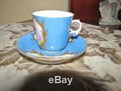 SEVRES CHATEAU de TUILERIES Hand Painted Porcelain CUP & SAUCER Rare