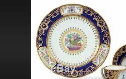 SEVRES Royal PRINCELY ARMORIAL CUP & SAUCER crest coat arms porcelain vase plate